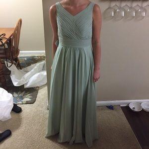 Azazie Pierrette Dusty Sage Bridesmaid Dress